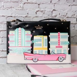 $258 Kate Spade Checking Car Sima Purse Bag New